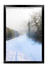 Snowy Lane, Framed Print