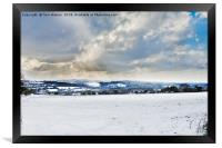The Day It Snowed In Cornwall, Framed Print