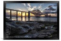 Forth Bridge Sunset, Framed Print