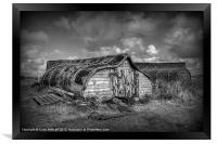 Fisherman's Hut in Mono., Framed Print