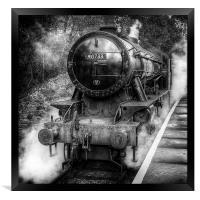 Under Steam Again. Mono., Framed Print