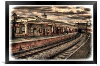 Vintage Keighley Station, Framed Print