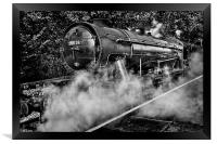 Austerity Class Engine in Mono, Framed Print