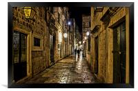 Dubrovnic at night, Framed Print