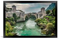 "Stari Most ""Old Bridge"" Mostar, Framed Print"