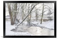 Snowy Walk, Framed Print
