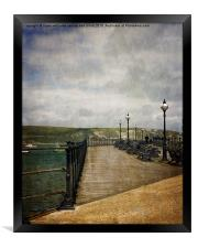 Textures On Swanage Pier, Framed Print