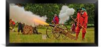 Firing The Cannon, Framed Print