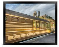Pullman Car and Castle, Framed Print