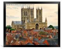 Lincoln Cathedral, Framed Print