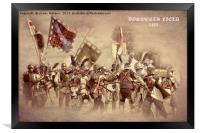 Bosworth Battlefield Re-enactment, Framed Print