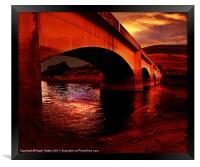 Yorkshire Bridge Sun Rise, Framed Print