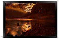 Ouzelden Night Fall, Framed Print