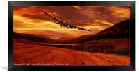 Lancaster Over Ouzelden, Framed Print
