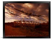 Low Flying, Training, Framed Print