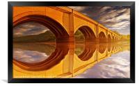 The Golden Viaduct, Framed Print