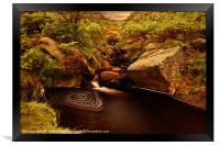 The Swirl Pool, Framed Print