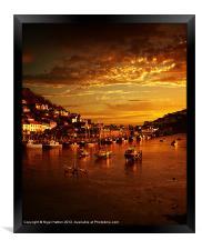 Looe at Sunset, Framed Print