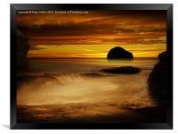 Trebarwith Strand at Sunset, Framed Print