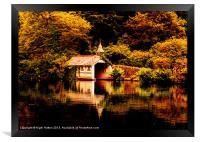 Trevrano Boat House, Framed Print