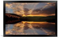 Sunrise Over Bamford Edge, Framed Print