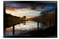 Derwent Village Reflections, Framed Print