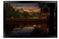 Derwent Dam Reflections, Framed Print