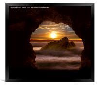 Cave Glow, Framed Print