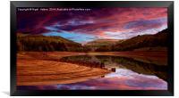 Ouzelden Sunrise, Framed Print
