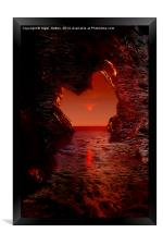 Cave Reflections, Framed Print