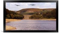 Two Over Howden Dam, Framed Print