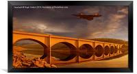 Vulcan Over Ashopton, Framed Print