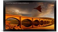 Vulcan Over Ladybower , Framed Print