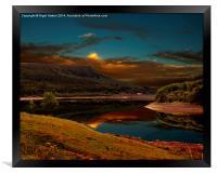 Bamford Edge Reflections , Framed Print