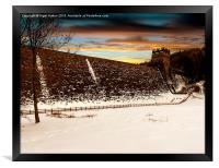 Snow at Derwent Dam, Framed Print
