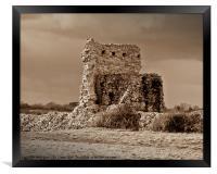 Pevensey Castle, Framed Print