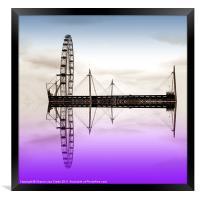 Wheel on water, Framed Print