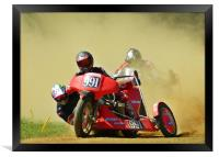 Right hand sidecar, Framed Print