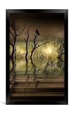 Twilight reflected, Framed Print