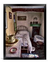 1930's Bedroom, Framed Print