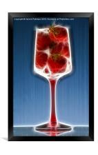 Sparkling Strawberry Champagne, Framed Print
