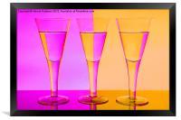 Pink n Peach Wine Glasses, Framed Print