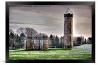 Eglinton Castle Ruins In Winter, Framed Print