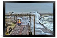 Train in the Storm, Framed Print