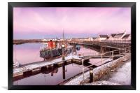 Frosty Irvine Harbour, Framed Print