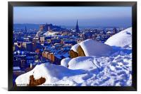 Edinburgh in Winter, Framed Print