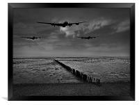 Enemy coast ahead, skipper black and white versi, Framed Print