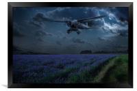 RAF Lysander on secret operation, Framed Print