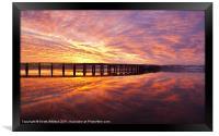 Tay Rail Bridge Dundee, Sunrise., Framed Print