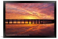 Tay Rail Bridge Dundee Sunrise., Framed Print